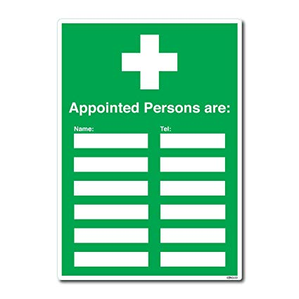 First aid for appointed persons